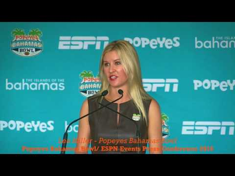 POPEYES BAHAMAS BOWL 2016: Lea Miller - ESPN EVENTS PRESS CONFERENCE
