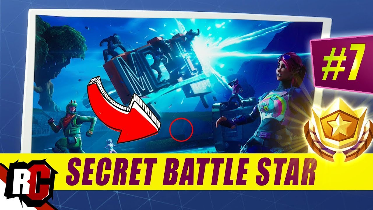 Fortnite secret battle star loading screen 7 location
