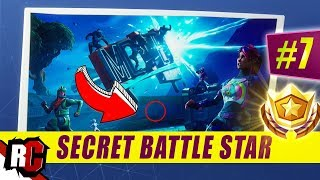 Secret Battle Star Emplacement WEEK 7 SEASON 5 ( Fortnite (Road Trip Challenge / Écran de chargement SEMAINE 7)