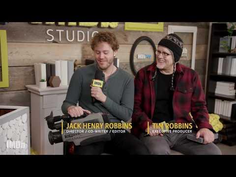 Jack Henry Robbins and Dad, Tim Robbins, Talk 'Painting With Joan'  SUNDANCE 2018