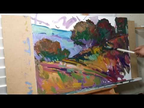 Artist JOSE TRUJILLO Oil Painting Demo - Impressionist Painting