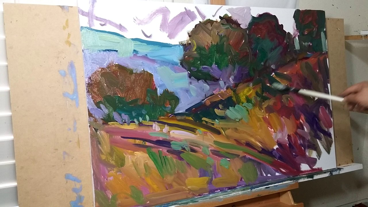 Artist Jose Trujillo Oil Painting Demo Impressionist