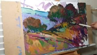 Artist JOSE TRUJILLO Oil Painting Demo - Impressionist Painting