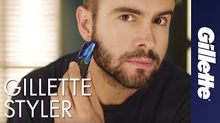Триммер Для Бороды: Универсальная Бритва-Стайлер Gillette STYLER