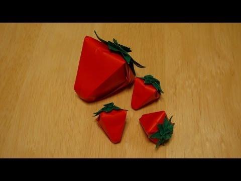 簡単 折り紙:折り紙 いちご 立体-iina117.xyz