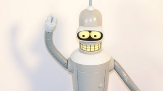 TOYNAMI TALKING BENDER 9 INCH ACTION FIGURE FUTURAMA TOY REVIEW