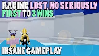 RACING -{LOST, NO SERIOUSLY}- FIRST TO 3 WINS [INSANE GAMEPLAY]   Tower of Hell ROBLOX