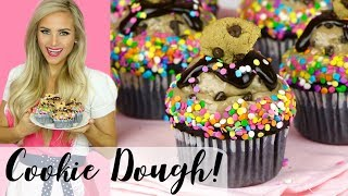 How To Make Chocolate Funfetti Cookie Dough Cupcakes // Lindsay Ann Bakes