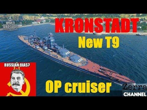 NEW 0.7.2 TIER IX SOVIET CRUISER KRONSTADT- OP Guns !!!