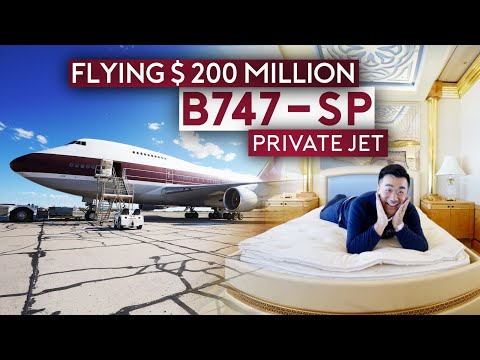 Flying $200 Million Boeing 747-SP Private Jet ALONE