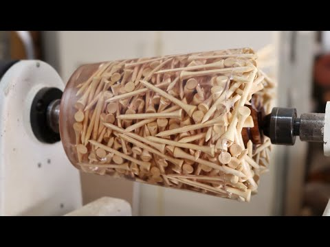 Wood Turning Golf Tees