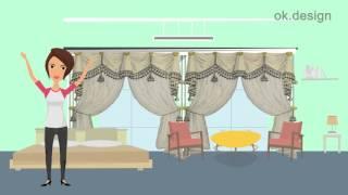Пошив штор в частные дома: Окей.Дизайн(Хотите изысканно украсить ваш загородный дом? Повесить шторы в эркер или мансарду? Хотите уникальный дизай..., 2015-12-23T08:39:38.000Z)