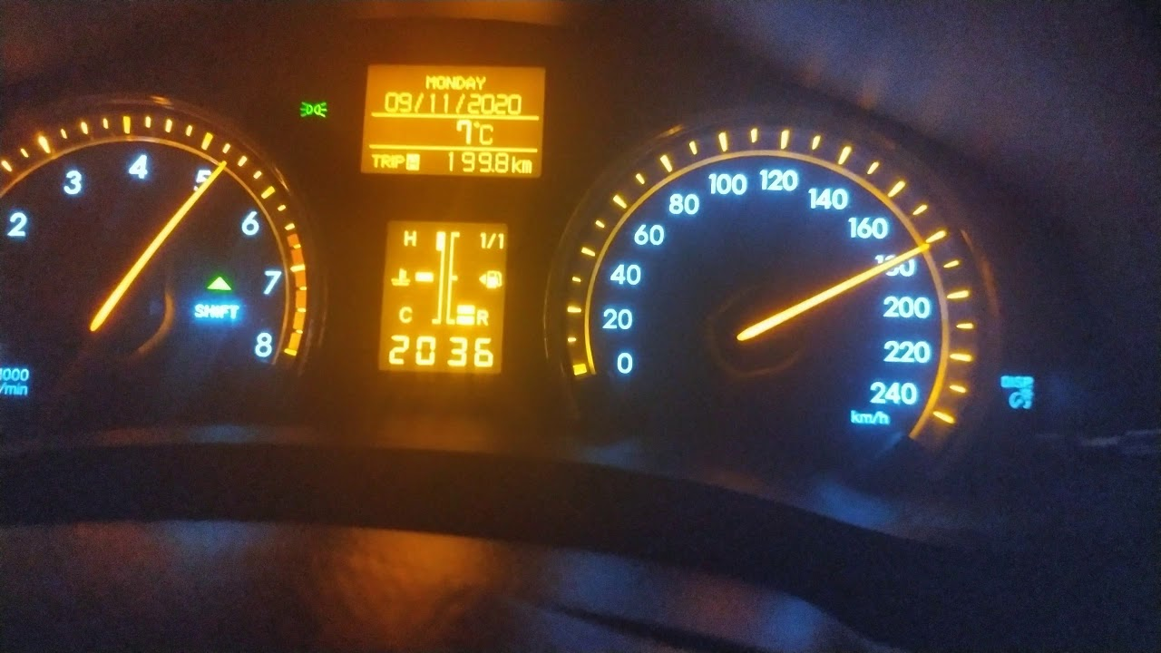 2012 Toyota Avensis 1.6 132hp LPG hız denemesi..