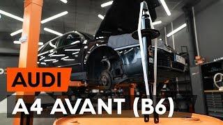 Kaip pakeisti Ratų cilindrai AUDI A4 Avant (8E5, B6) - vaizdo vadovas