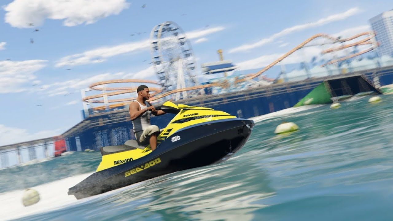 Jet Privato Gta 5 : Jet ski sea doo skin gta v enromovies youtube