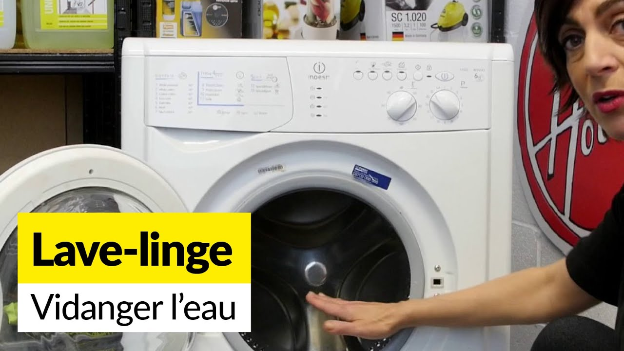Comment vider l 39 eau d 39 une machine laver youtube - Vider machine a laver demenagement ...