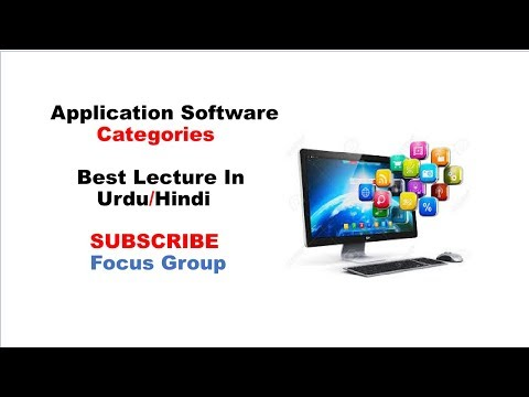 Application Software | Categories Of Application Software | Lecture in Urdu/Hindi