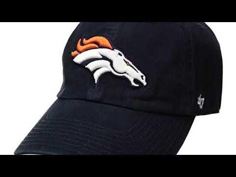 NFL Denver Broncos Clean Up Adjustable Hat, Navy, One Size Fits All Fits All