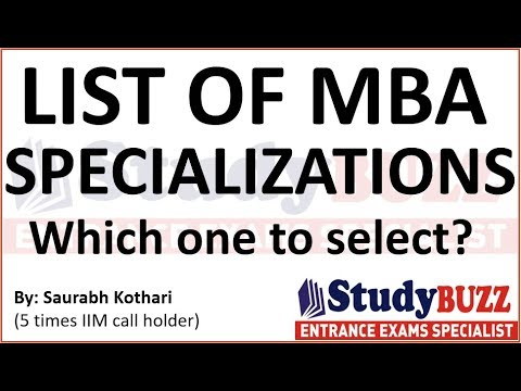 List of all MBA specializations: How & which one to select?
