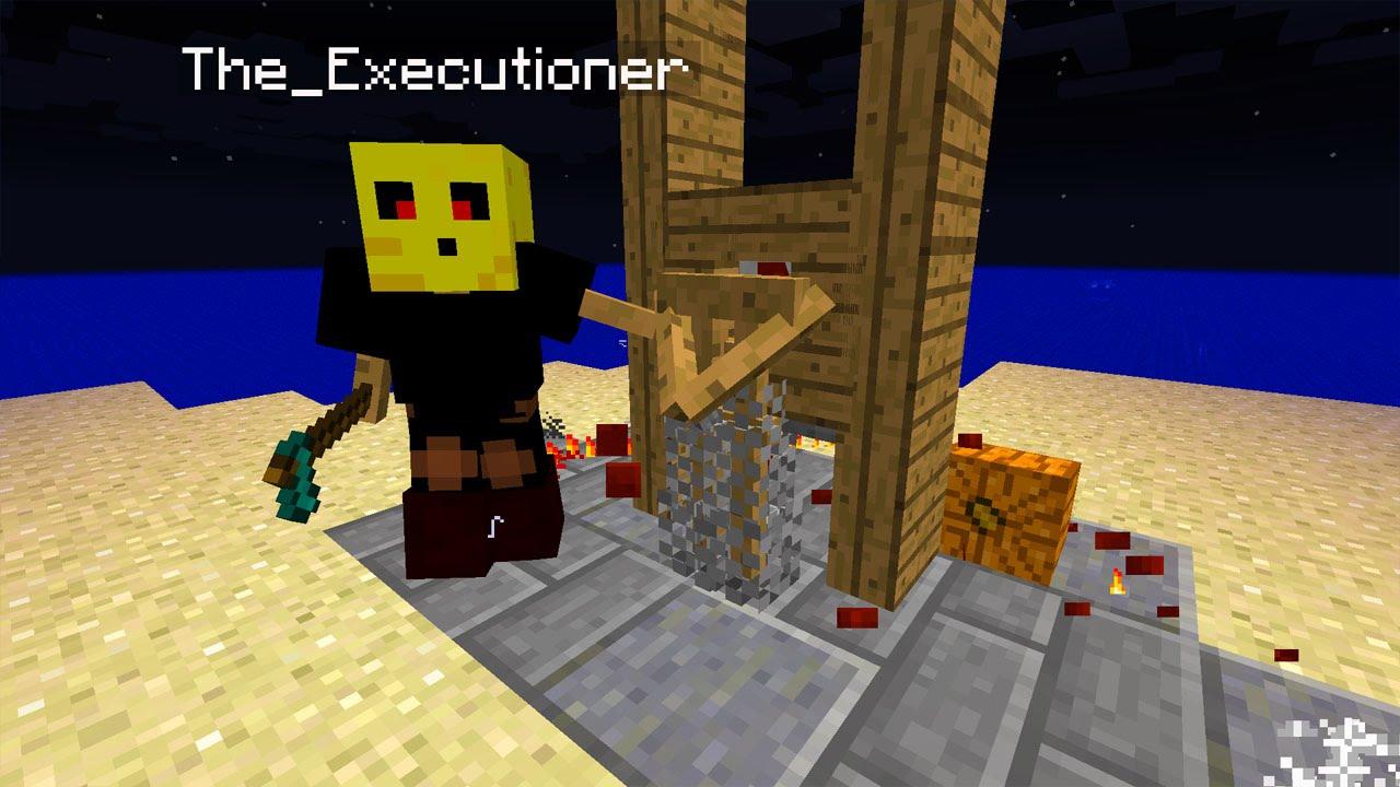 Henker Guillotine In Minecraft Vanilla Minecraft Creation - Minecraft mittelalter haus command