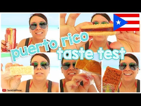 PUERTO RICAN FOOD TASTE TEST #1 | PUERTO RICO | VIVIAN REACTS