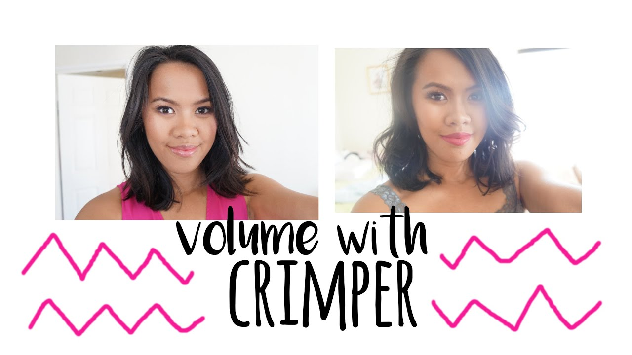 Teasing S More Volume With A Hair Crimper