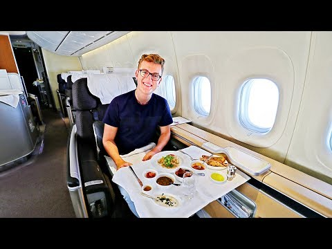 BEST FLIGHT EVER! Alone in Lufthansa First Class |747-8 |Frankfurt - Bangalore