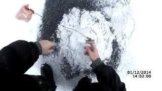 Ловля щуки на жерлицы зимой #1 (видео-отчет) Рыбалка 1 декабря 2014 Первый лед