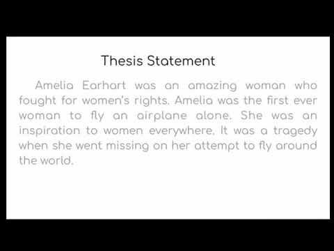 amelia earhart thesis statement