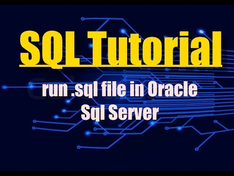 How To Run .sql Program File In Oracle Command Line | SQL Tutorial | PL/SQL | Oracle SQL 10g