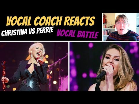 Vocal Coach Reacts to Christina Aguilera Vs Perrie Edwards Little Mix VOCAL BATTLE