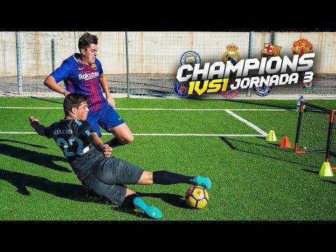 CHAMPIONS 1vs1 | JORNADA 3 | Retos de fútbol [Crazy Crew]