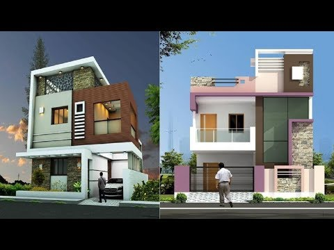 Double Storey Elevation Two Storey House Elevation 3d Front View