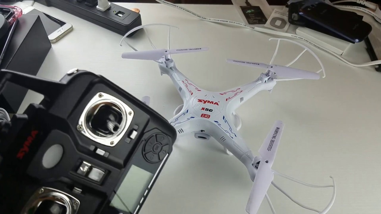 Syma X5C prop replacement - YouTube