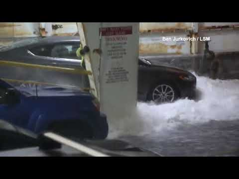 Waves Bash Ferry In 60 Mph Windstorm On Puget Sound