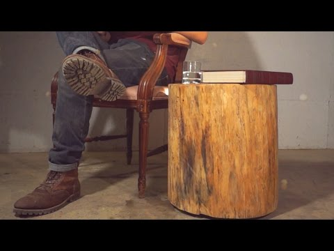 DIY Floating Log End Table | Modern Builds | EP. 4
