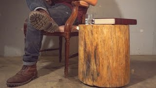DIY Floating Log End Table Modern Builds EP. 5