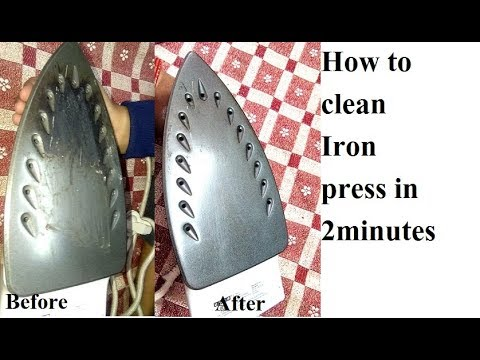 How to clean burnt iron press in 2 minutes very easy steps | easy way to clean iron press surface