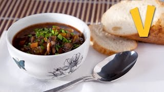 Rustic Mushroom Soup   The Vegan Corner