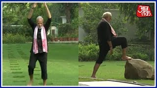 Prime Minister Narendra Modi Releases Fitness Video; Shows His Daily Fitness Routine