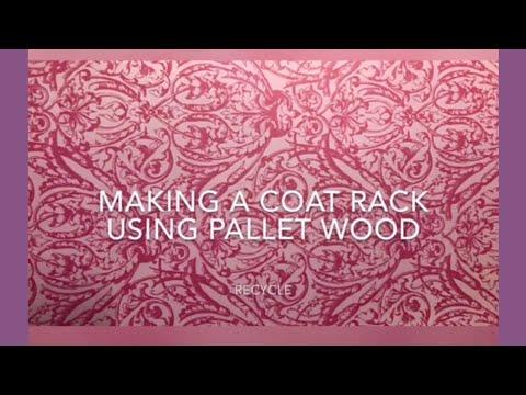 DIY pallet wood Coat Rack