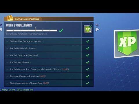Fortnite WEEK 8 CHALLENGES COMPLETED LIVE GUIDE! (Fortnite Battle Royale)