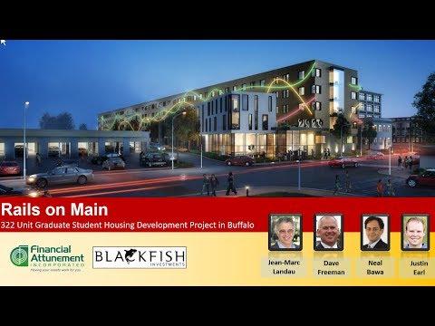 Rails on Main -  322 unit new student housing development in Buffalo, NY