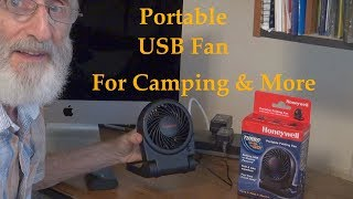 Portable USB Fan F๐r Camping and More Uses