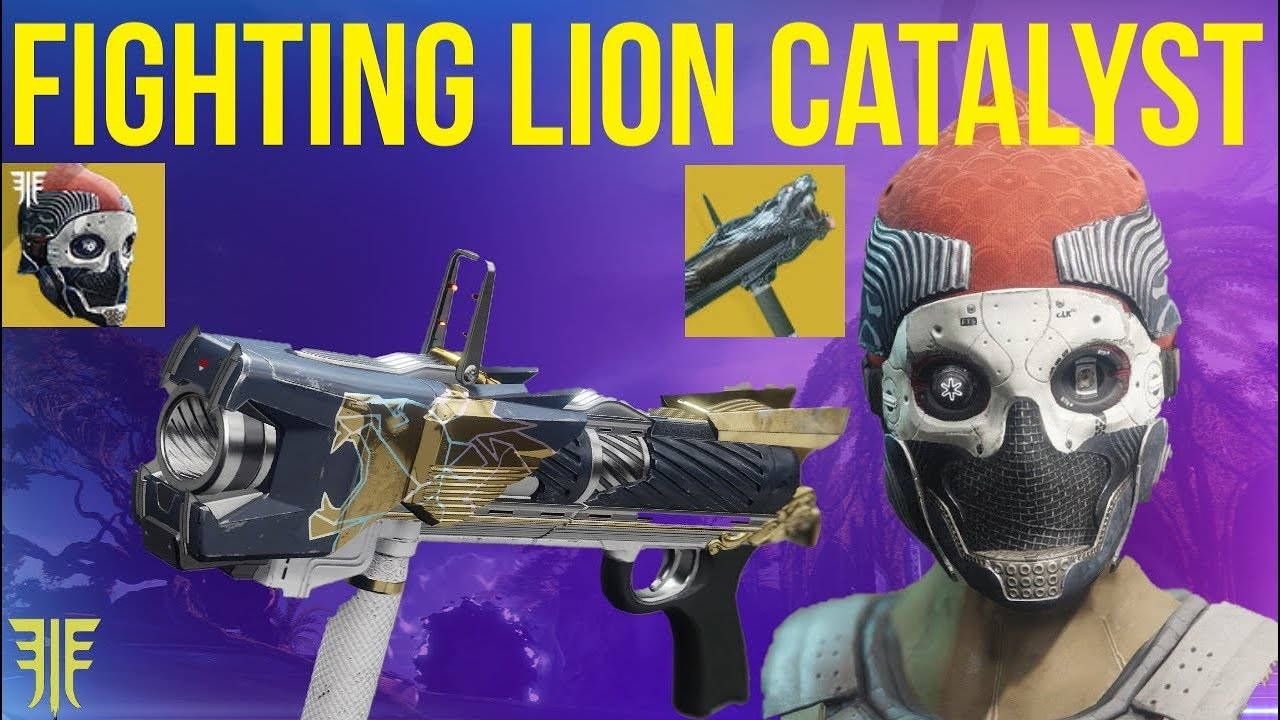 FIGHTING LION CATALYST + ONE EYED MASK! DESTINY 2 FORSAKEN