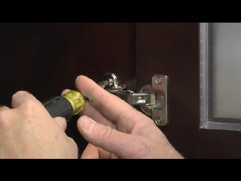 How to Adjust Self-Closing Kitchen Cabinet Hinges : Kitchen Maintenance