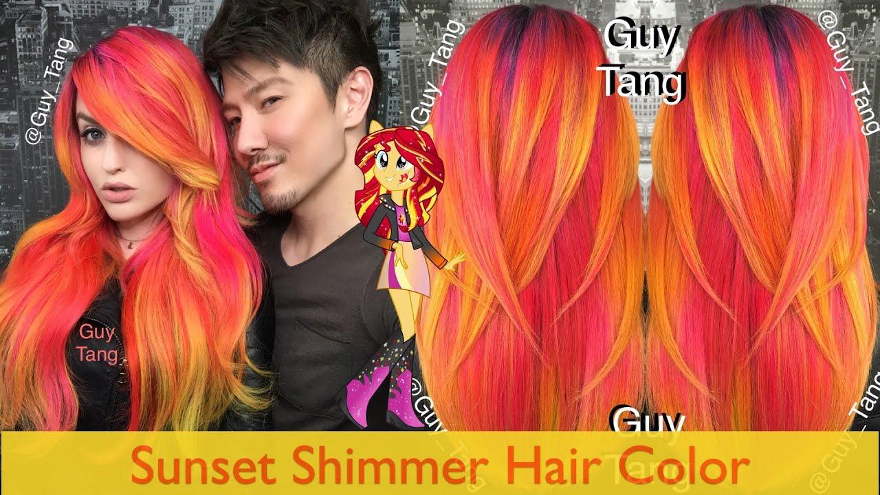 Sunset Shimmer Hair Color Youtube
