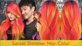 Sunset Shimmer Hair Color(After the Cyber Punk Hair Color I gave SuperMaryFace, she wanted to go to the opposite side of the color spectrum which are warm colors - Red, Orange, ..., 2015-10-16T18:26:13.000Z)