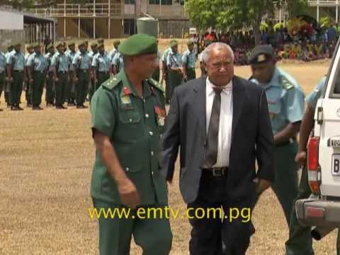 PNG Defence Force Recruits Pass Out
