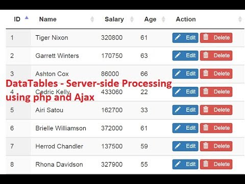 DataTables - Server-side Processing using php and Ajax Part 3 by Sokchab